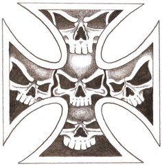 cross skull | Iron Skull Cross by ~TheLob on deviantART
