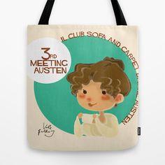 Jane+Austen+3RD+meeting+Austen+Tote+Bag+by+Vale+Bathory+-+$22.00