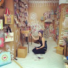 PaPaYa booth at the Atlanta Gift Show ... from Anahata Katkin's blog @ www.lucybcosmetics.com