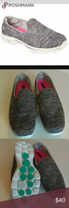 Skechers gagamat technology New slip on shoes, fitknit mesh upper goga mat technology padded memory foam heel Skechers Shoes Athletic Shoes