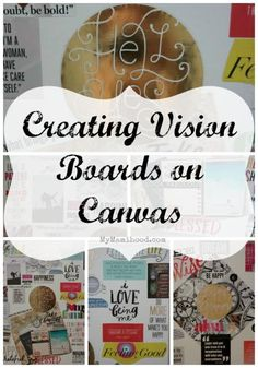 creating vision boards on canvas - Vision Board Party Invitation