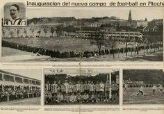 Articulo de prensa del 04 de Octubre de 1913, inauguración del Estadio de Atotxa, casa de la Real Sociedad de Fútbol, de San Sebastian.