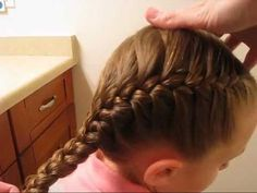 If you struggle with getting a tight or tidy French braid, come watch our video. We're sharing a few pointers to help you improve your French braiding skills and achieve a nice tight French braid! Box Braids Hairstyles, Braids Step By Step, Natural Hair Styles, Short Hair Styles, Braiding Your Own Hair, Cool Braids, Braids Easy, Toddler Hair, Little Girl Hairstyles