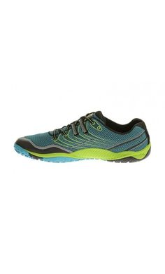 Merrell Trail Glove 3 Shoes Algiers Blue/Lime Green #adventure #camping