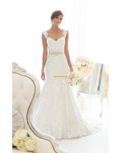 7228e46e22b4 Beach   Destination Kapell Tog Sommer Vintage Bryllupskjoler Dress Wedding