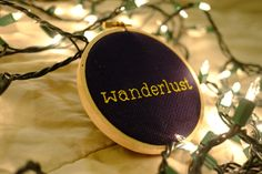 Wanderlust Cross Stitch - Completed by CrossReferences on Etsy