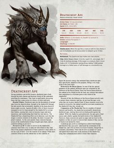 DnD Homebrew — Dark Arts Player's Companion Monsters Part 1 by. Dnd Dragons, Dungeons And Dragons 5e, Dungeons And Dragons Homebrew, Monster Concept Art, Fantasy Monster, Monster Art, Fantasy Creatures, Mythical Creatures, Mythological Creatures