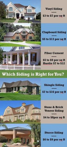 6 House Siding Options: Cost to Install & Maintain - Home Tips for Women Brick Veneer Siding, Clapboard Siding, Shingle Siding, Vinyl Siding, House Siding Options, Exterior Siding Options, Siding Cost, House Paint Exterior, Exterior Homes
