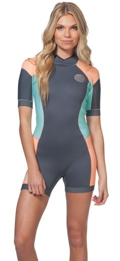 56c5d7ce54 Buy the 2mm Women s Rip Curl DAWN PATROL Shorty Springsuit at Wetsuit  Wearhouse. FREE ground