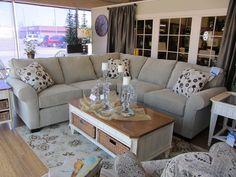 In our East Window, Broyhill's Veronica sectional!