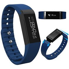 Nextshine Touch Screen Bluetooth Fitness Activity Tracker with Pedometer Sleep MonitorBlue *** See this great product.