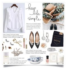 """""""Sunday Feeling"""" by linmari ❤ liked on Polyvore featuring Mémoire, Roads, WithChic, Manolo Blahnik, Abercrombie & Fitch, Royal Copenhagen, Betsey Johnson, Pier 1 Imports, Deborah Lippmann and Velour Lashes"""