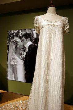 "Emma's wedding gown worn by Gwyneth Paltrow in the 1996 version of Jane Austen's ""Emma""."