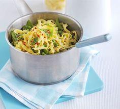 Summer pea pasta recipe | BBC Good Food