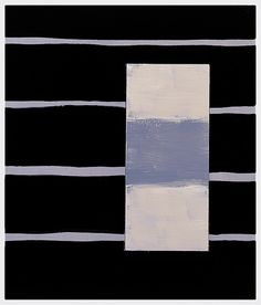 Sean Scully, Black Line Grey, 1998, Oil on linen, 35.8 x 31.8 in (90.9 x 80.8 cm)