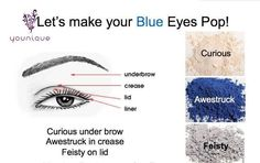 """Make your Blue eyes pop! Join my TEAM in 2014!  Younique Make-up Presenters Kit! Join today for $99 and start your own bsuiness. Try it, you will love it! Welcome to the """"On-line Make-up Spa Party""""!   Join my Team and have your own Make-up party business. So many ways to sell and earn residual  income!! https://www.youniqueproducts.com/KathysDaySpa"""