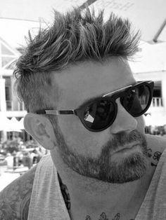 Best Undercut with Beard Styles Guide) Short Hairstyles 2015, Undercut Hairstyles, Boy Hairstyles, Hairstyle Men, Latest Hairstyles, Hairstyle Ideas, Short Beard, Short Hair Cuts, Short Hair Styles