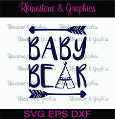 Baby Bear Pattern Instant Download SVG EPS DXF Cutting file by RhinestoneandGraphic on Etsy
