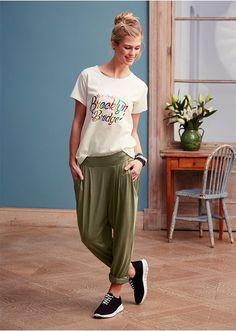 Spodnie Luźniejsze spodnie z dzianiny • 89.99 zł • bonprix