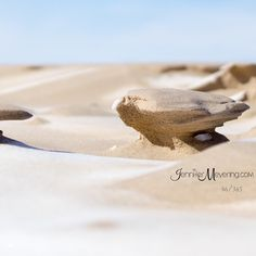 Some pretty #amazing formations made in the frozen sand by all the wind we were having this winter 46 | 365 {macro}