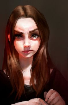 This is a self portrait. I was captivated by a certain light and had to draw it. :)