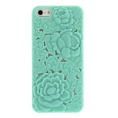 Minty flower cut out case.