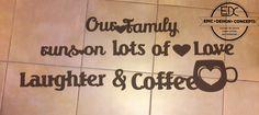 Wall art-Coffe love #wallart #wood #coffeelove