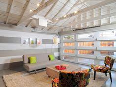 modern converted garage living space