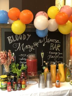 Ideas Brunch Party Drinks Mimosa Bar For 2019 Brunch Party Decorations, Brunch Decor, Brunch Ideas, Brunch Bar, Brunch Buffet, Birthday Brunch, Easter Brunch, Bridesmaid Brunch, Bloody Mary Bar