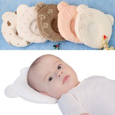 Free shipping 2015 new super cute baby bear shape memory pillow baby pillow shape anti-migraine