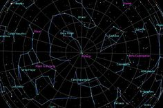 Some of the best known patterns of stars or 'constellations' in the northern hemisphere, including Ursa Major, Ursa Minor and Cassiopeia, as well as some prominent stars