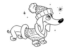 Dachshunds contour illustration characters by Efen Guy Arte Dachshund, Dachshund Love, Dog Coloring Page, Coloring Book Pages, Dog Clip Art, Christmas Drawing, Christmas Coloring Pages, Weenie Dogs, Drawing For Kids