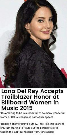 Lana Del Rey at the Billboard Women in Music event in New York. December 11, 2015.