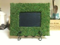 Trendy Moss Chalkboard Frame    The item can be used in so many ways. Purchase several to use as table numbers for a banquet or rehearsal dinner, cute way to label food on a buffet or bar, great spring accessory for your home, or pop the chalkboard out and use it as a shabby chic picture frame or gift it! The rustic, garden look is so popular right now. Purchase this for your home, wedding, event or gift, this trendy frame is sure to make a statement.     Find me: littleMiSSprissie on…