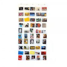 Rideau pochette transparente pour photos