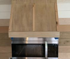 DIY faux vent hood with microwave