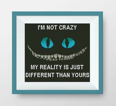 Cheshire Cat Cross Stitch Pattern, PDF counted cross stitch pattern,Alice in Wonderland, Quote cross stitch, I'm not crazy, P002 by NataliNeedlework on Etsy
