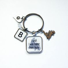 Newfoundland keychain, NFLD Keychain, Home From Away, Monogram keyring, stocking stuffer, Monogram keychain, heart, newfoundlander (7984) Monogram Keychain, Monogram Letters, Newfoundland Map, Christmas Coasters, Business Card Case, Gifts For Wine Lovers, Candy Containers, Split Ring, Hostess Gifts