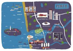 My map of Perth for @flightcentreuk magazine. Would love to visit!