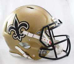 New Orleans Saints NFL Authentic Speed Revolution Full Size Helmet from Riddell Sports Online Shopping New Orleans Saints, 32 Nfl Teams, Sports Teams, Running Back, Down South, Surf Shop, My Guy, Sports Fan Shop, Baby Clothes Shops