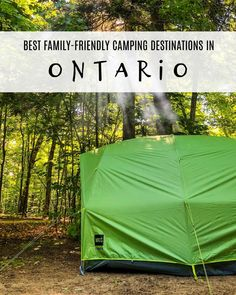 Now that spring is upon us, it's time to start planning our spring and summer outdoor adventures. For our family, that means lots of camping. Today, we're sharing the best family-friendly camping destinations in Ontario! Yurt Camping, Family Camping, Family Travel, Ontario Camping, Ontario Travel, Ontario Parks, Camping Activities, Canada Travel, Day Trips