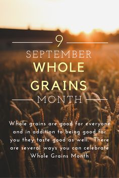 Learn how to include whole grains as part of your healthy diet.