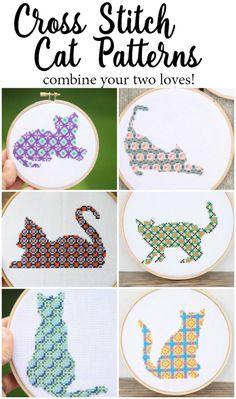 Cross Stitch Cat Patterns for sale