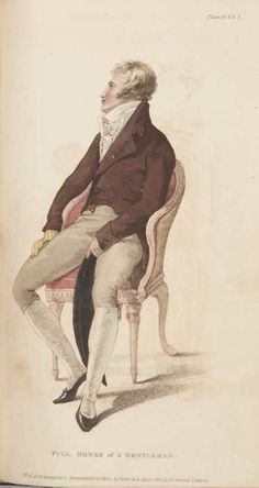 April 1810.  full dress of a gentleman