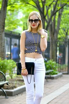 Katie's Bliss - Stripe Crop Top http://www.katiesbliss.com/2015/05/fifth-label-stripe-crop-top.html/