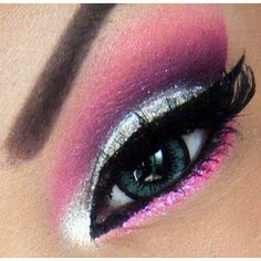 Pink & Sparkly eyeshadow make-up