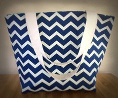 Navy Blue & Cream Chevron  Reversible Large by MyLightBoutique, $35.00