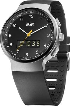 Amazon.com: Braun Men's BN0159SLBKBKG Analog Digital Analog-Digital Display Japanese Quartz Black Watch: Braun: Watches