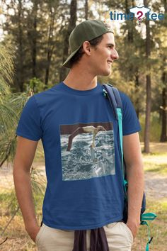 Time2Tee makes for a great staple t-shirt that compliments any outfit. It's made of a heavier cotton and the double-stitched neckline and sleeves give it more durability, so it can become an everyday favorite.