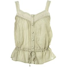 Petite Lace Button Front Cami ($30) ❤ liked on Polyvore featuring tops, shirts, tank tops, tanks, women, lace top, lace camisole, lace shirt, cami shirt ve lace tank